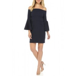 TRINA Trina Turk Off the Shoulder Sheath Dress Indigo Women Casual Dresses lgRwhyBl