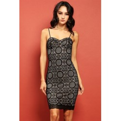 floral lace-overlayed sweetheart bodycon dress Black Women Mini Dresses ID62054 DC0GLFjE