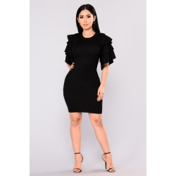 Madden Knit Dress - Black  Women Midi Dresses Cheap nlX2hNcu