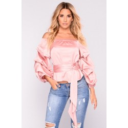 Make You Blush Satin Top - Blush Women Woven Tops Cheap U6xJ9OHW