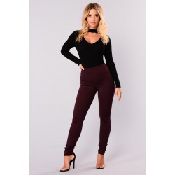 Booty Lifting Tummy Tucker Leggings - Plum  Women Pants Cheap G0pRBx3w
