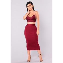 Swept Away Bandage Skirt - Wine  Women Skirts Cheap xV4dPDUW