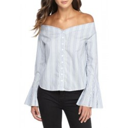 Free People March To The Beat Top Blue Combo Women Blouses xoXfq62a