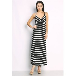 striped maxi dress Mocha Women Day Dresses CNKQZXbm