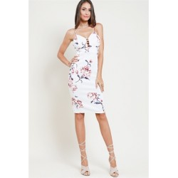 caged floral cami bodycon dress Dusty Pink Print Women Floral Dresses HMD10247-U110 kN9hcDVP