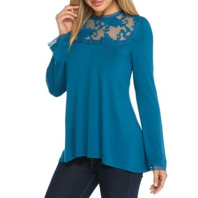 Grace Elements High-Low Bell Sleeve Tunic Moroccan T Women Tunics jq8CfINx