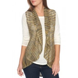 New Directions® Circular Vest Gold Multi Women Sweater Vests KjaZDZbo