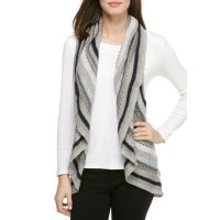 New Directions® Striped Circle Sweater Long Shadow Women Sweater Vests 4VIfPwPd