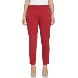 CHAUS Dena Cropped Cuff Pant Cranberry Red Women Casual Pants nP7C7pWe
