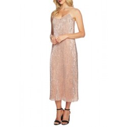 1. State 1017 SEQ MIDI SLIP DRESS Lustre Nud Women Maxi Dresses 98jrjzwm